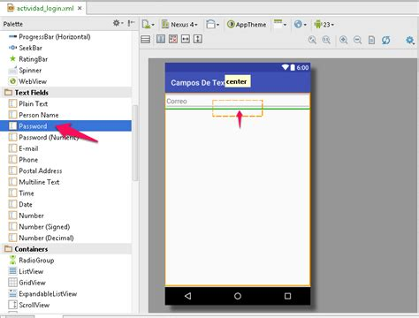 android studio linearlayout tutorial controles tutorial de edittext en android