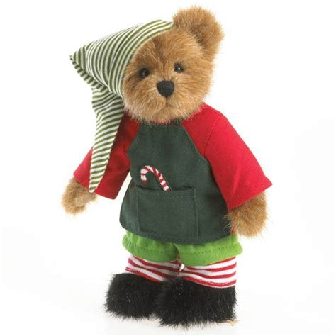 Boyds 8in Plush Christmas Elf Bear, 4028334   Flossie's