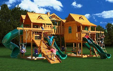 awesome backyard playgrounds 17 best images about backyard playsets on pinterest play