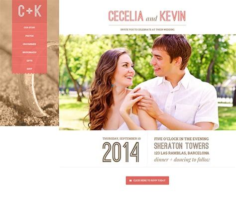 free wedding site templates 70 best wedding website templates free premium