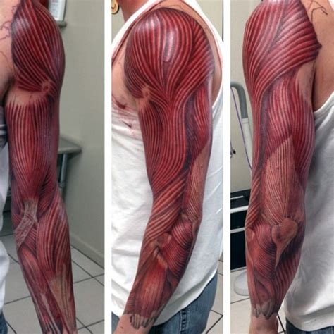 muscle tattoos 70 designs for exposed fiber ink ideas