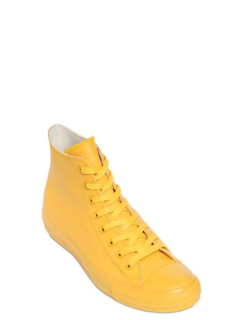 yellow high top sneakers converse all rubber high top sneakers in yellow for