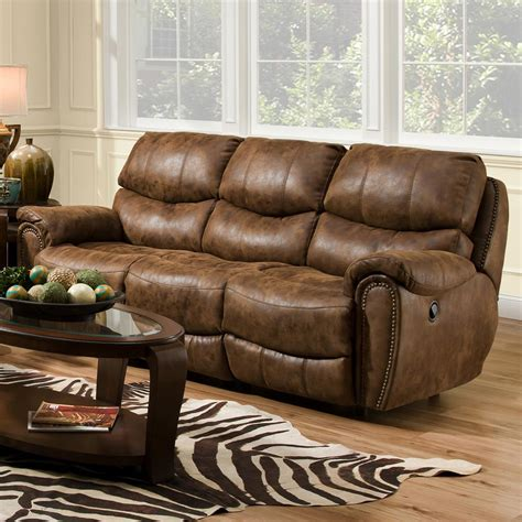 Franklin Upholstery Furniture by Franklin Richmond Reclining Sofa With Nail Trim