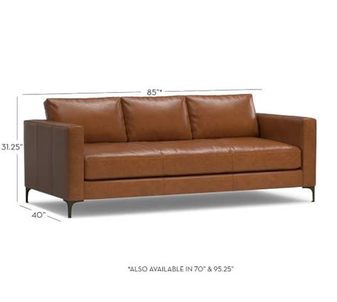 Leather Sofa Pottery Barn Jake Leather Sofa Pottery Barn