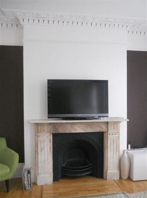 Fireplace Alcove by Alcove Painted Living Room