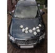 Hochzeitsschmuck Auto 12 Wei&223e Rosen