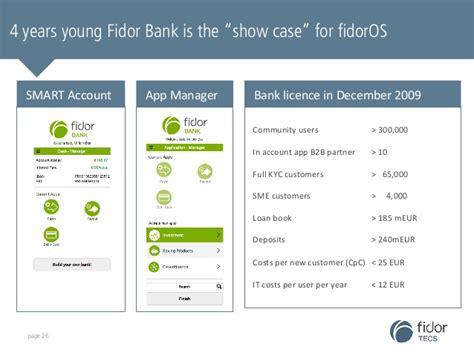 fridor bank fidor tecs company presentation
