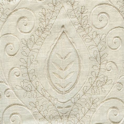 embroidered linen drapery fabric society hill bone ivory embroidered linen drapery fabric
