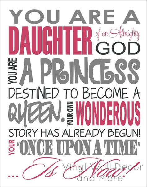 printable daughter quotes princess print daughter of god ever after girls and