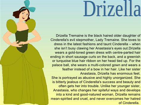 Drizella Green Dress cinderella research