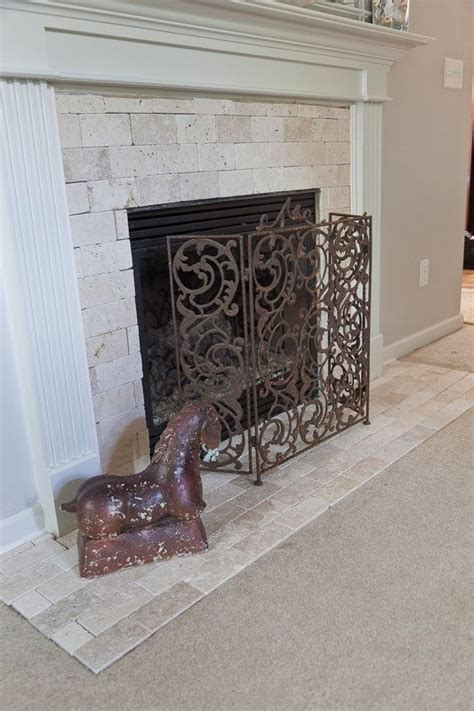 den tumbled marble simi fireplace