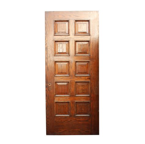 Solid Wood Exterior Doors For Sale Handsome Antique 36 Solid Wood Door With Recessed Panels Nid26 Rw For Sale Antiques