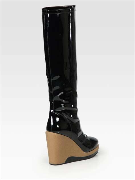 marc by marc patent leather knee high wedge
