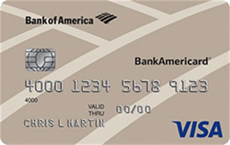 Gift Card Bank Of America - bankamericard 174 credit card from bank of america