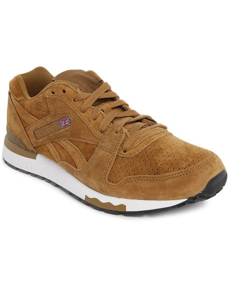 reebok gl 6000 tobacco suede sneakers in brown for tobacco lyst