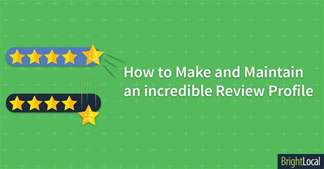 how to make and maintain an customer review profile brightlocal