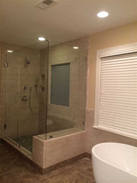 shower built in bench frameless 90 degree corner shower with built in bench seat