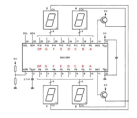 decoupling capacitor i2c saa1064 i2c 7 segment led driver mbed
