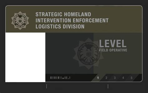 of shield id card template s h i e l d field level 1 id card blank by