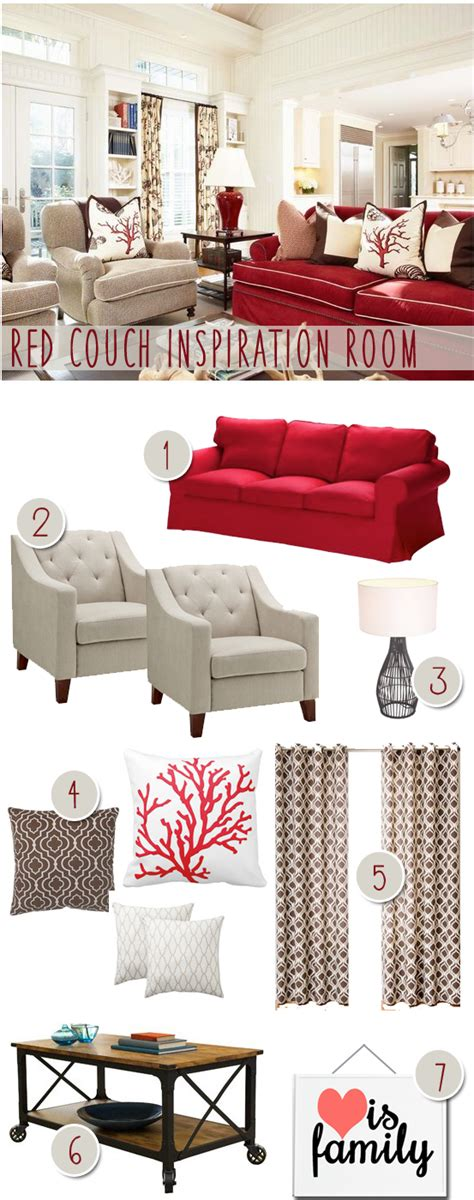 how to decorate with a red couch how to decorate a living room with a red couch coupon karma