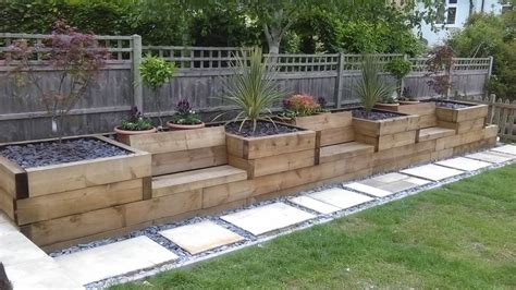 raised beds  integrated garden seating