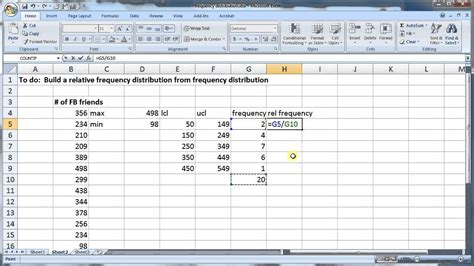 create frequency table in excel how to a distribution table in excel calculate