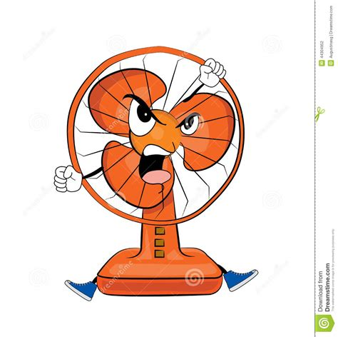 image of a fan angry table fan cartoon stock illustration image of