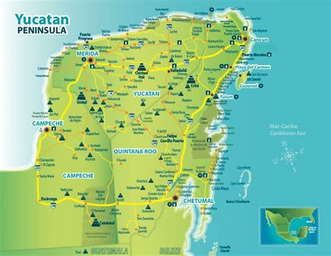 america map yucatan peninsula 14 best images about mexico on gardens