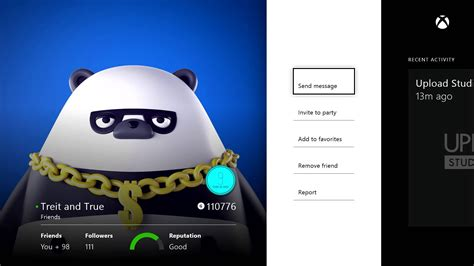 xbox one profile coming to friends app on xbox one walkthrough