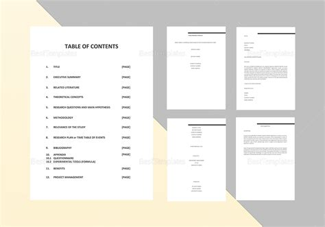 proposal template for apple pages thesis proposal template in word google docs apple pages