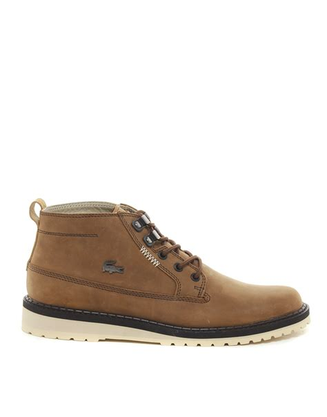 lacoste boots lacoste delevan boots in brown for lyst