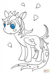 imagenes de mlp kawai kawaii pegasus pony coloring page free printable