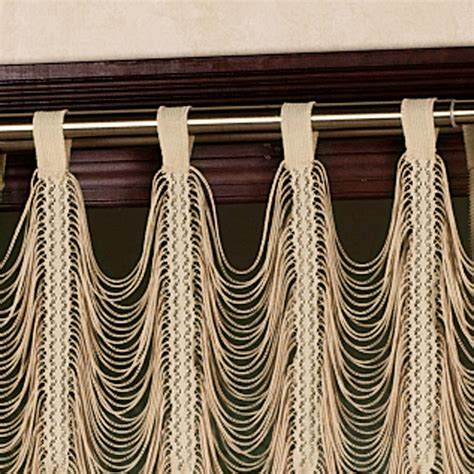 string curtain panel sorrento ii gold string lace curtain panels