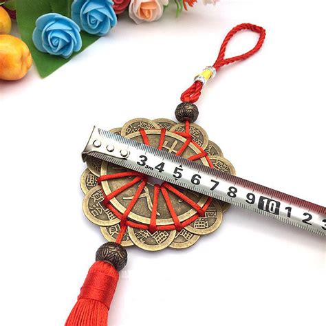 feng shui chinese knot tassel  coins lucky charm home