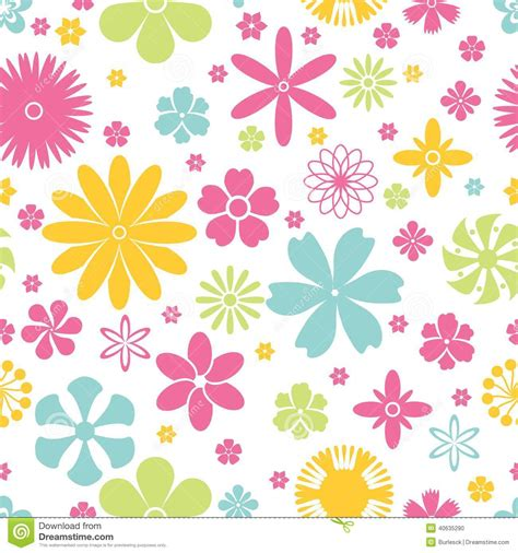 pattern background spring seamless pattern of spring and summer flowers stock vector