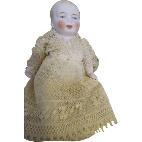bisque baby doll adorable all bisque baby doll from nostalgicimages on ruby