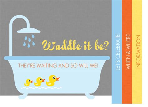 Baby Shower Gender Neutral Invitations by Gender Neutral Baby Shower Invitations Rubber Ducky