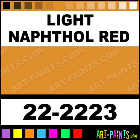 light naphthol sargent acrylic paints 22 2223 light naphthol paint light