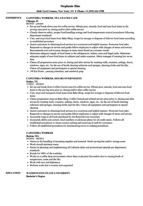 School Cafeteria Worker Sle Resume by Cafeteria Worker Resume Cover Letter Tipsretail Daily Animator And Cartoonist Resume Exle
