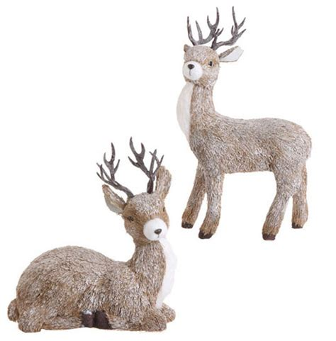 outdoor deer decorations deer set of 2 eclectic outdoor