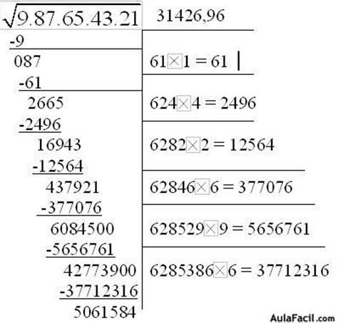 raiz cuadrada de 40 calcular la ra 237 z cuadrada de un n 250 mero grande 3