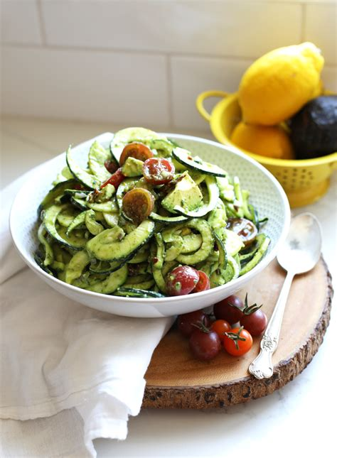 cold pasta dish cold zucchini pasta salad little bits of real food