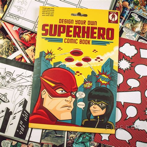 design your own home book design your own superhero comic book firebox
