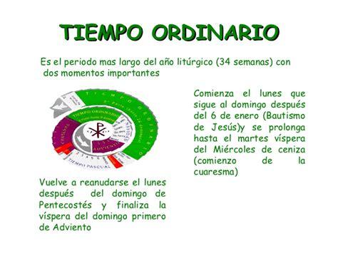 L Calendario Liturgico Tiempo Liturgico