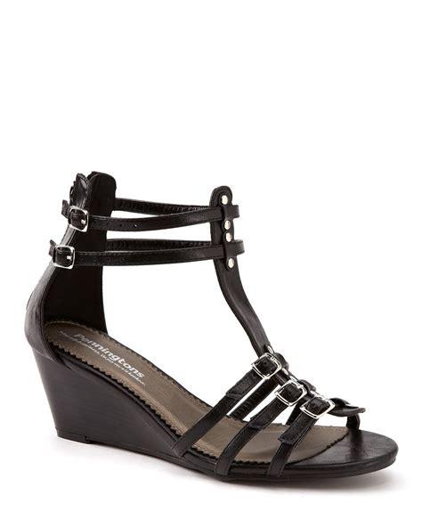 wide width sandals wide width gladiator wedge sandals penningtons