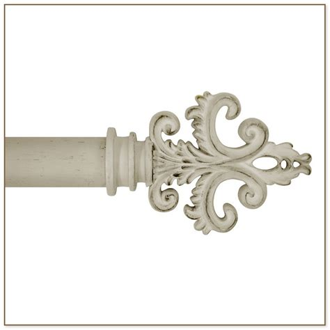 curtain rod white antique white curtain rod
