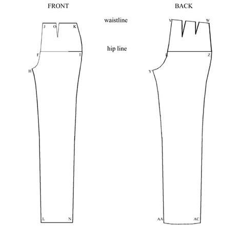 dress pattern block templates constructing the basic trouser block learning sewing