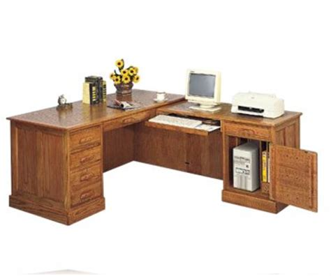 Oak L Shaped Computer Desk Executive L Shape Oak Desk L Desks Coaster 5308