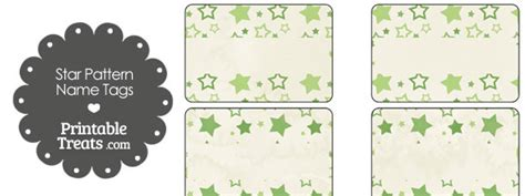 pattern for name tags vintage green star pattern name tags