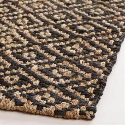 world weave rugs black chunky weave jute aminah area rug world products and jute